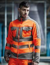 Hi-Vis Extol Stretch F/Z Jacket